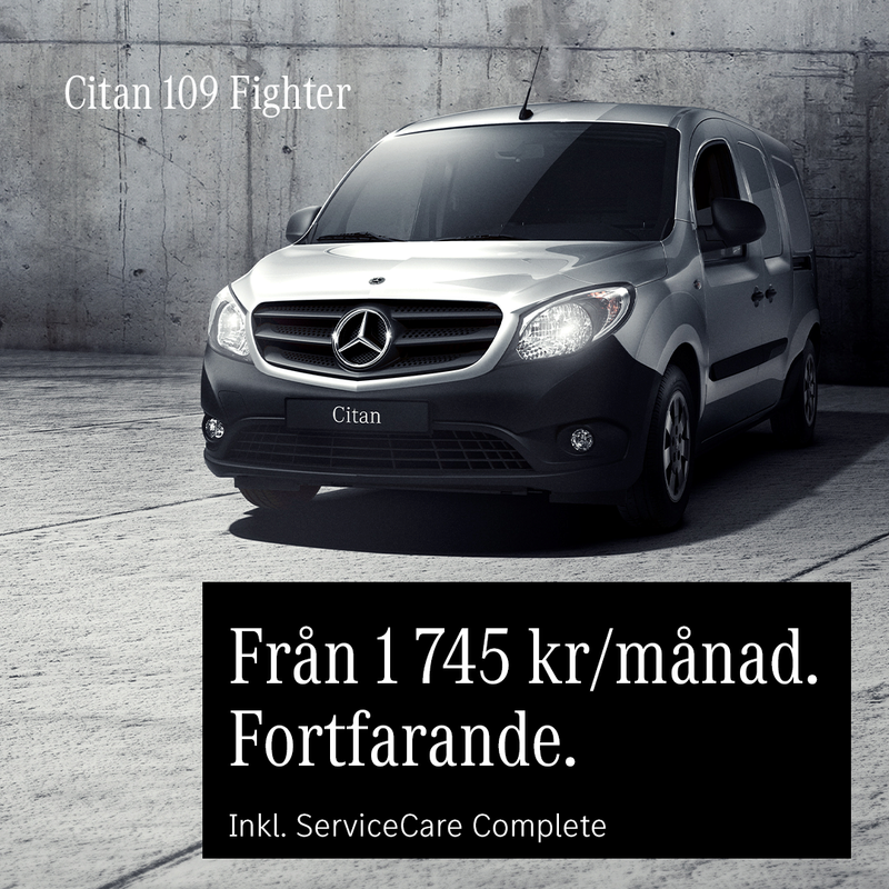 Småländska Bil Mercedes-Benz Citan transportbil kampanj