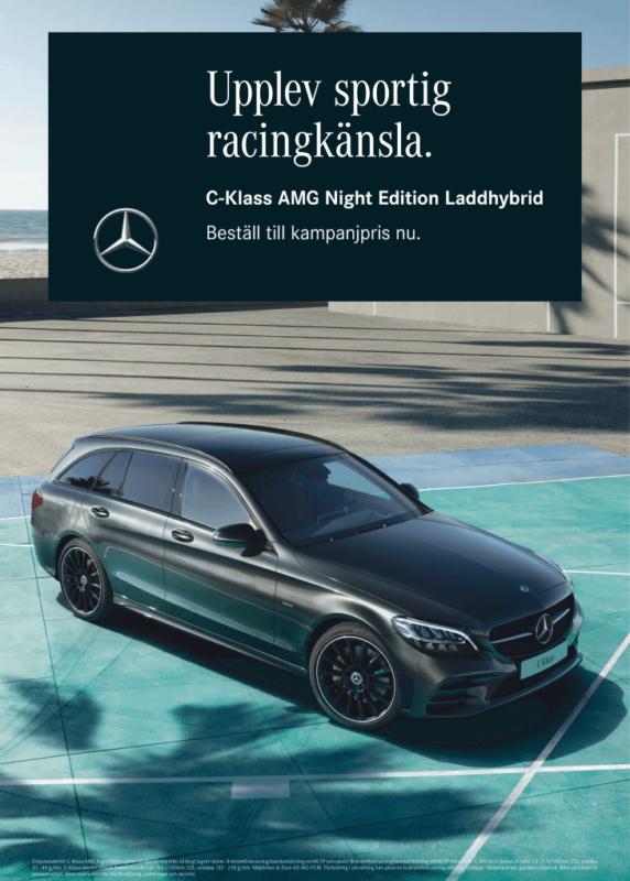 Smalandska Bil Mercedes-Benz C-klass kampanj night AMG