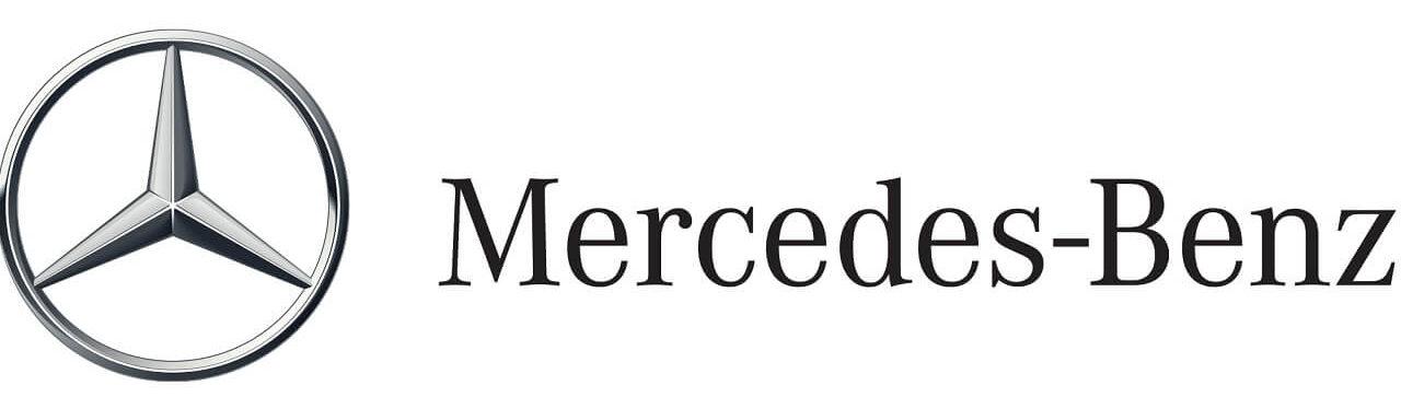 Smalandska Bil Mercedes-Benz logo med text