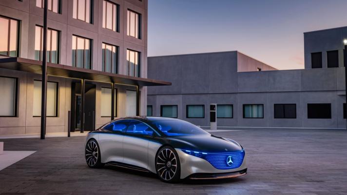 Smalandska Bil Mercedes-Benz EQS nya