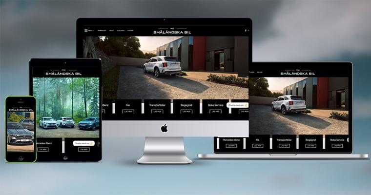 Småländska Bil lanserar ny webbplats
