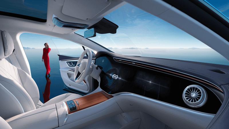 Smalandska Bil Mercedes-Benz EQS kampanj